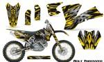 KTM C1 SX EXC MXC CreatorX Graphics Kit Bolt Thrower Yellow NP Rims 150x90 - KTM C1 SX 2001-2004 EXC 2003-2004 Graphics