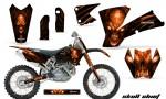 KTM C1 SX EXC MXC CreatorX Graphics Kit Skull Chief Orange BB NPs Rims 150x90 - KTM C1 SX 2001-2004 EXC 2003-2004 Graphics