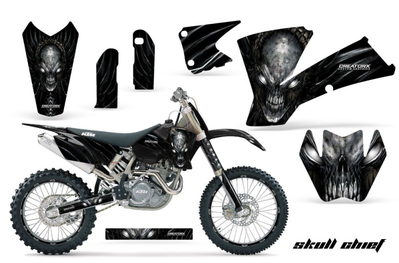 KTM-C1-SX-EXC-MXC-CreatorX-Graphics-Kit-Skull-Chief-Silver-BB-NPs-Rims