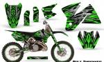 KTM C2 CreatorX Graphics Kit Bolt Thrower Green NP Rims 150x90 - KTM C2 SX 1998-2000 125-520 EXC Graphics