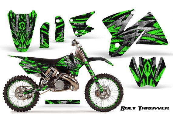 KTM C2 CreatorX Graphics Kit Bolt Thrower Green NP Rims 570x376 - KTM C2 SX 1998-2000 125-520 EXC Graphics