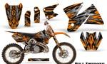 KTM C2 CreatorX Graphics Kit Bolt Thrower Orange NP Rims 150x90 - KTM C2 SX 1998-2000 125-520 EXC Graphics