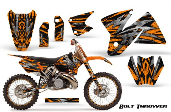 KTM C2 CreatorX Graphics Kit Bolt Thrower Orange NP Rims 570x376 - KTM C2 SX 1998-2000 125-520 EXC Graphics