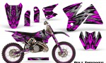KTM C2 CreatorX Graphics Kit Bolt Thrower Pink NP Rims 150x90 - KTM C2 SX 1998-2000 125-520 EXC Graphics