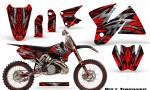 KTM C2 CreatorX Graphics Kit Bolt Thrower Red NP Rims 150x90 - KTM C2 SX 1998-2000 125-520 EXC Graphics