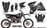 KTM C2 CreatorX Graphics Kit Bolt Thrower Silver NP Rims 150x90 - KTM C2 SX 1998-2000 125-520 EXC Graphics