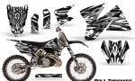 KTM C2 CreatorX Graphics Kit Bolt Thrower White NP Rims 150x90 - KTM C2 SX 1998-2000 125-520 EXC Graphics