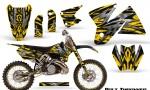 KTM C2 CreatorX Graphics Kit Bolt Thrower Yellow NP Rims 150x90 - KTM C2 SX 1998-2000 125-520 EXC Graphics