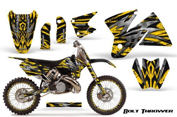KTM C2 CreatorX Graphics Kit Bolt Thrower Yellow NP Rims 570x376 - KTM C2 SX 1998-2000 125-520 EXC Graphics