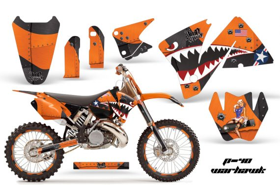 KTM C3 AMR Graphics Kit WH O NPs 570x376 - KTM C3 MXC EXC 200-520 2001-2002 Graphics