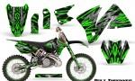 KTM C3 CreatorX Graphics Kit Bolt Thrower Green NP Rims 150x90 - KTM C3 MXC EXC 200-520 2001-2002 Graphics
