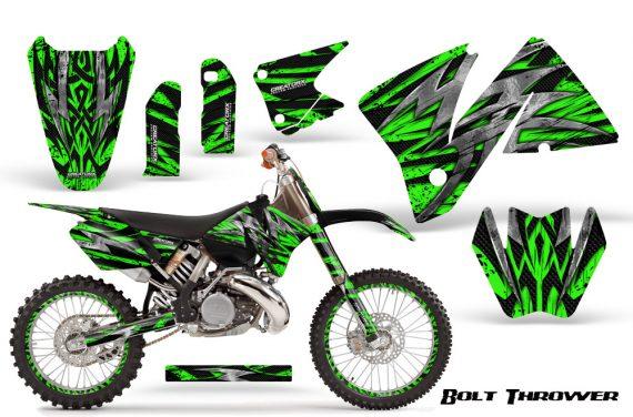 KTM C3 CreatorX Graphics Kit Bolt Thrower Green NP Rims 570x376 - KTM C3 MXC EXC 200-520 2001-2002 Graphics
