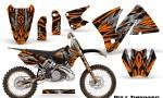 KTM C3 CreatorX Graphics Kit Bolt Thrower Orange BB NP Rims 150x90 - KTM C3 MXC EXC 200-520 2001-2002 Graphics