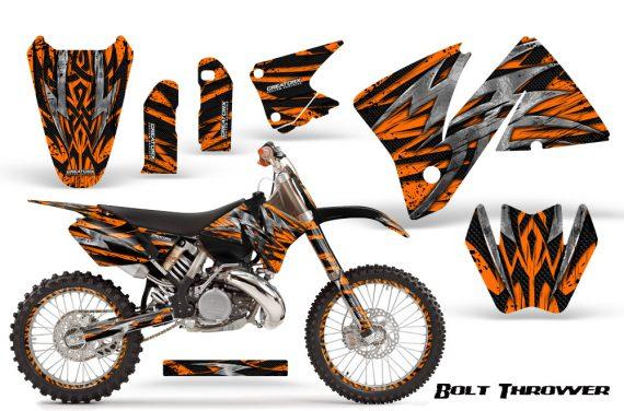 KTM C3 CreatorX Graphics Kit Bolt Thrower Orange BB NP Rims 570x376 - KTM C3 MXC EXC 200-520 2001-2002 Graphics