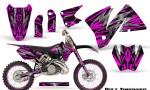 KTM C3 CreatorX Graphics Kit Bolt Thrower Pink NP Rims 150x90 - KTM C3 MXC EXC 200-520 2001-2002 Graphics