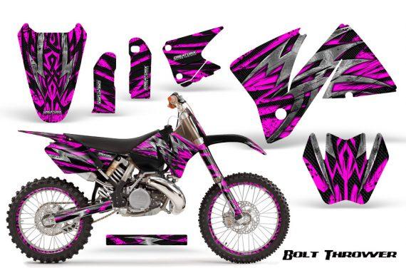 KTM C3 CreatorX Graphics Kit Bolt Thrower Pink NP Rims 570x376 - KTM C3 MXC EXC 200-520 2001-2002 Graphics