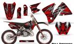 KTM C3 CreatorX Graphics Kit Bolt Thrower Red NP Rims 150x90 - KTM C3 MXC EXC 200-520 2001-2002 Graphics