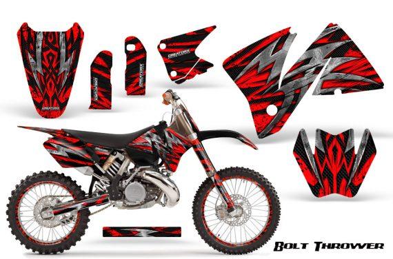 KTM C3 CreatorX Graphics Kit Bolt Thrower Red NP Rims 570x376 - KTM C3 MXC EXC 200-520 2001-2002 Graphics
