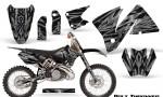 KTM C3 CreatorX Graphics Kit Bolt Thrower Silver NP Rims 150x90 - KTM C3 MXC EXC 200-520 2001-2002 Graphics
