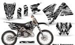 KTM C3 CreatorX Graphics Kit Bolt Thrower White NP Rims 150x90 - KTM C3 MXC EXC 200-520 2001-2002 Graphics