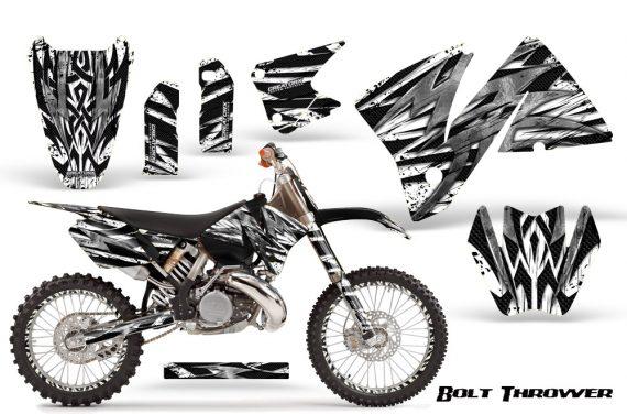 KTM C3 CreatorX Graphics Kit Bolt Thrower White NP Rims 570x376 - KTM C3 MXC EXC 200-520 2001-2002 Graphics