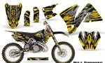 KTM C3 CreatorX Graphics Kit Bolt Thrower Yellow NP Rims 150x90 - KTM C3 MXC EXC 200-520 2001-2002 Graphics