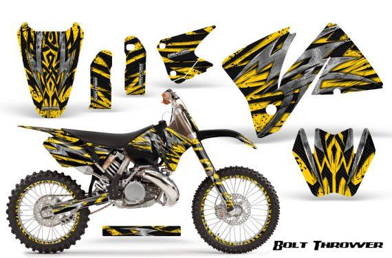 KTM C3 CreatorX Graphics Kit Bolt Thrower Yellow NP Rims 570x376 - KTM C3 MXC EXC 200-520 2001-2002 Graphics