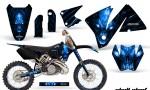 KTM C3 CreatorX Graphics Kit Skull Chief Blue Rims 150x90 - KTM C3 MXC EXC 200-520 2001-2002 Graphics