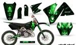 KTM C3 CreatorX Graphics Kit Skull Chief Green Rims 150x90 - KTM C3 MXC EXC 200-520 2001-2002 Graphics