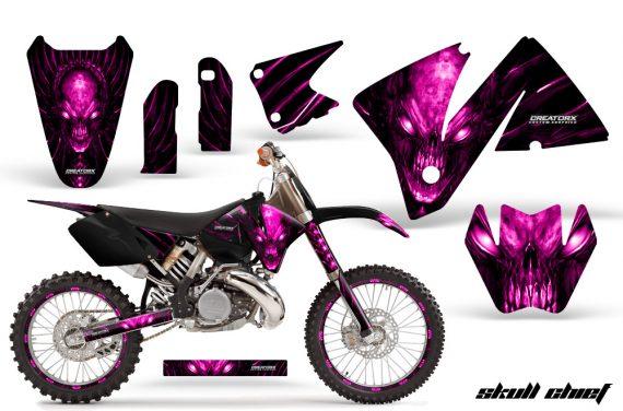 KTM C3 CreatorX Graphics Kit Skull Chief Pink Rims 570x376 - KTM C3 MXC EXC 200-520 2001-2002 Graphics
