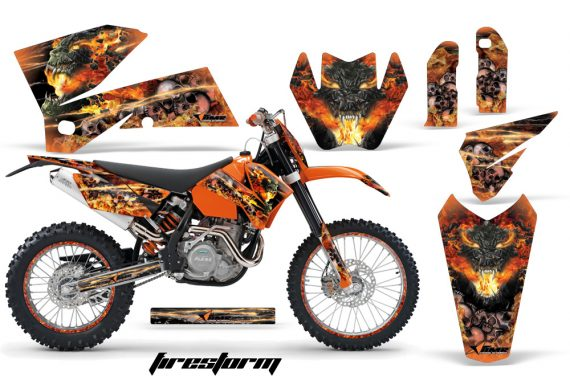 KTM C4 AMR Graphics Kit Firestorm B NPs 570x376 - KTM C4 SX 2005-2006 EXC 2005-2007 Graphics