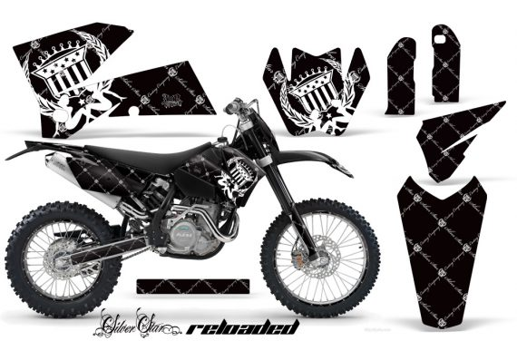 KTM C4 AMR Graphics Kit Reloaded WB NPs 570x376 - KTM C4 SX 2005-2006 EXC 2005-2007 Graphics