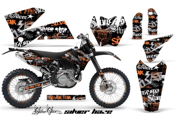 KTM C4 AMR Graphics Kit Silverhaze OB NPs 570x376 - KTM C4 SX 2005-2006 EXC 2005-2007 Graphics