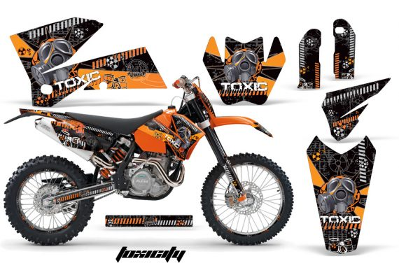 KTM C4 AMR Graphics Kit Toxicity OB NPs 570x376 - KTM C4 SX 2005-2006 EXC 2005-2007 Graphics