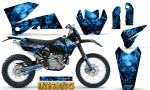 KTM C4 CreatorX Graphics Kit Inferno Blue NP Rims 150x90 - KTM C4 SX 2005-2006 EXC 2005-2007 Graphics
