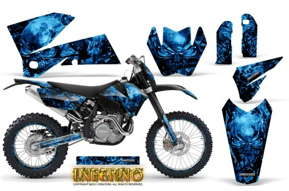 KTM C4 CreatorX Graphics Kit Inferno Blue NP Rims 570x376 - KTM C4 SX 2005-2006 EXC 2005-2007 Graphics