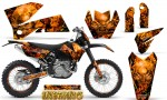 KTM C4 CreatorX Graphics Kit Inferno Orange BB NP Rims 150x90 - KTM C4 SX 2005-2006 EXC 2005-2007 Graphics