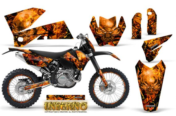 KTM C4 CreatorX Graphics Kit Inferno Orange BB NP Rims 570x376 - KTM C4 SX 2005-2006 EXC 2005-2007 Graphics