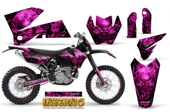 KTM C4 CreatorX Graphics Kit Inferno Pink NP Rims 570x376 - KTM C4 SX 2005-2006 EXC 2005-2007 Graphics