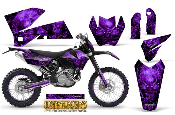KTM C4 CreatorX Graphics Kit Inferno Purple NP Rims 570x376 - KTM C4 SX 2005-2006 EXC 2005-2007 Graphics