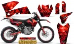 KTM C4 CreatorX Graphics Kit Inferno Red NP Rims 150x90 - KTM C4 SX 2005-2006 EXC 2005-2007 Graphics