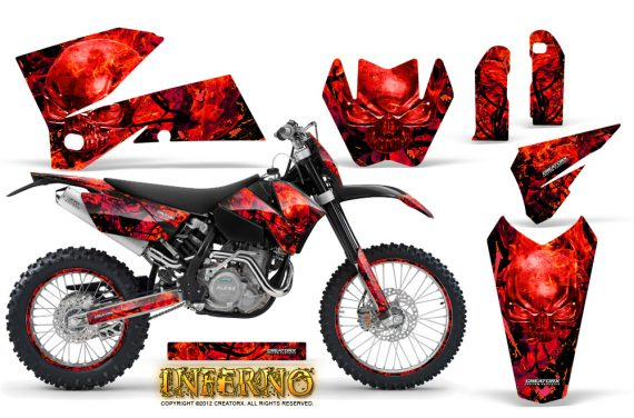 KTM C4 CreatorX Graphics Kit Inferno Red NP Rims 570x376 - KTM C4 SX 2005-2006 EXC 2005-2007 Graphics