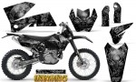 KTM C4 CreatorX Graphics Kit Inferno Silver NP Rims 150x90 - KTM C4 SX 2005-2006 EXC 2005-2007 Graphics