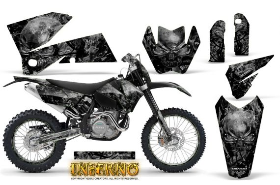 KTM C4 CreatorX Graphics Kit Inferno Silver NP Rims 570x376 - KTM C4 SX 2005-2006 EXC 2005-2007 Graphics