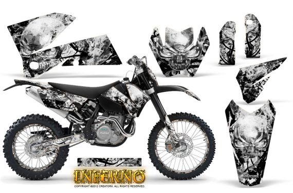 KTM C4 CreatorX Graphics Kit Inferno White NP Rims 570x376 - KTM C4 SX 2005-2006 EXC 2005-2007 Graphics