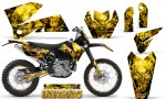 KTM C4 CreatorX Graphics Kit Inferno Yellow NP Rims 150x90 - KTM C4 SX 2005-2006 EXC 2005-2007 Graphics