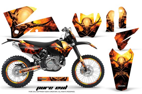 KTM C4 CreatorX Graphics Kit Pure Evil NP Rims BB 570x376 - KTM C4 SX 2005-2006 EXC 2005-2007 Graphics