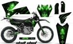 KTM C4 CreatorX Graphics Kit Skull Chief Green BB NP Rims 150x90 - KTM C4 SX 2005-2006 EXC 2005-2007 Graphics