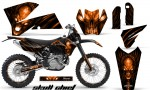 KTM C4 CreatorX Graphics Kit Skull Chief Orange BB NP Rims 150x90 - KTM C4 SX 2005-2006 EXC 2005-2007 Graphics