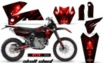 KTM C4 CreatorX Graphics Kit Skull Chief Red BB NP Rims 150x90 - KTM C4 SX 2005-2006 EXC 2005-2007 Graphics